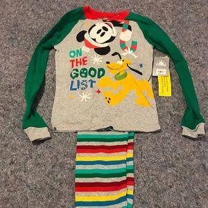 BNWT Kid's Disney Size 10 Christmas Pajamas
